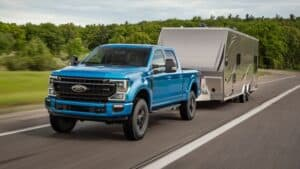 2020 Ford F-Series Truck Super Duty Towing a Trailer