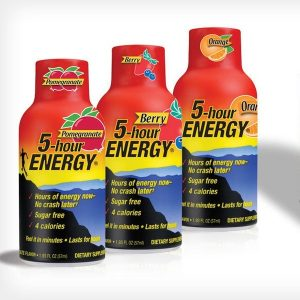 There Bottles of 5-Hour Energy Drink