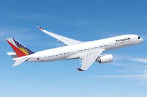 A Philippine Airlines Plane in the Air