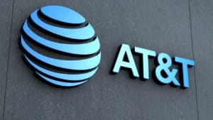 AT&T Name and Logo on Building