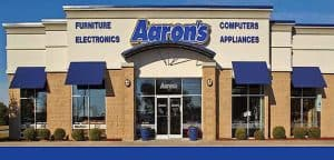 Front of an Aaron's Store
