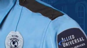 Allied Universal Uniform Shoulder, with Patches