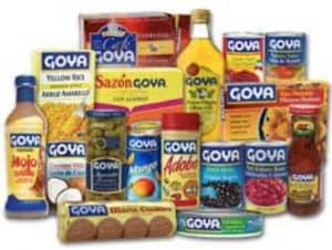 An Array of Goya Food Products