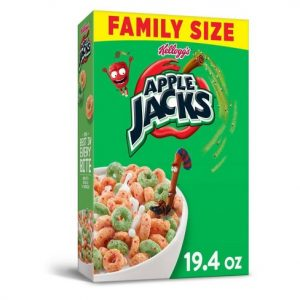 Box of Apple Jacks Cereal