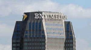 Tall Building with BNY Mellon Sign at Top