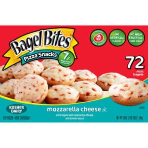 Box of Bagel Bites Pizza Snacks