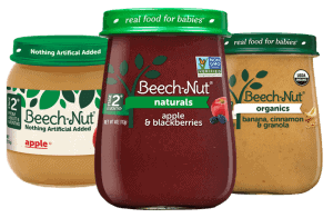 Three Containers of Beech-Nut Baby Food
