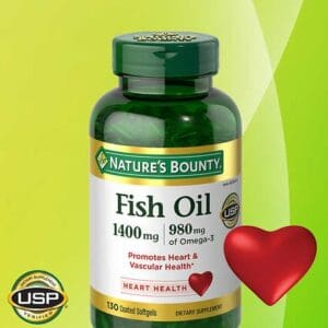 Bottle of Nature's Bounty 1400 mg Fish Oil