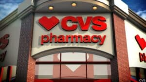 CVS Sign on Store with Heart Logo
