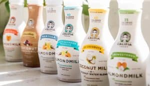 Row of Califia Farms Non-Dairy Drinks