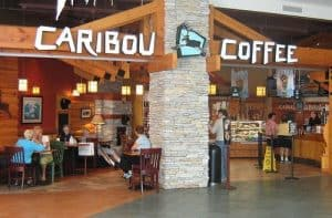 Interior of a Caribou Coffee Store