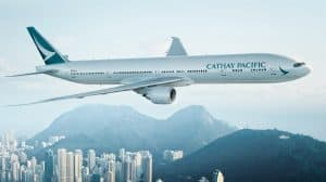Cathay Pacific Flight over Hong Kong