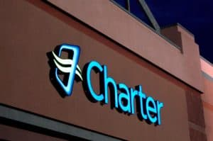 Charter Name and Logo on Building