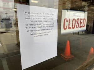 """""""Closed"""" Sign in Store Window"""