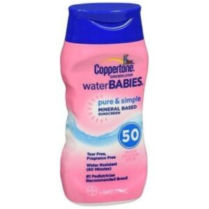 Bottle of Coppertone Pure & Simple Mineral Based Sunscreen