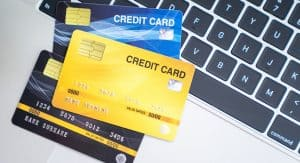 Credit Cards and Computer Keyboard