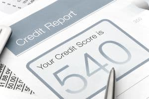 Credit Report with Score of 540