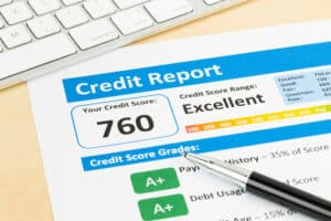 Credit Report Showing Score of 760