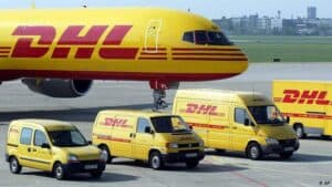 DHL Plane and Vans