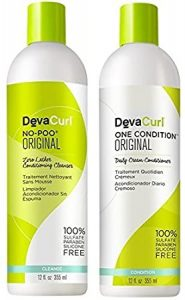 DevaCurl No-Poo and One Conditioner Bottles