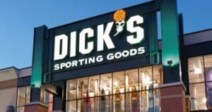 Sign over Dick's Sporting Goods Store
