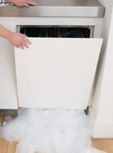 Suds Leaking Out of Bottom of Dishwasher