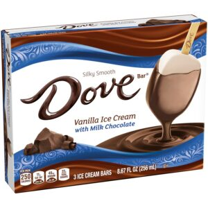 Box of Dove Bars with Milk Chocolate Coating