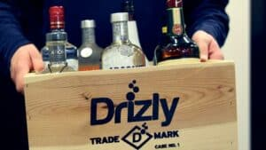 Crate of Alcohol with Drizly Name on It