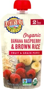 Earth's Best Organic Banana Raspberry Brown Rice Product