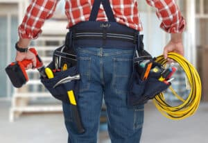 Electrical Worker and Toolbelt