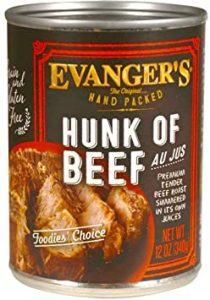 Can of Evanger's Hunk of Beef Product