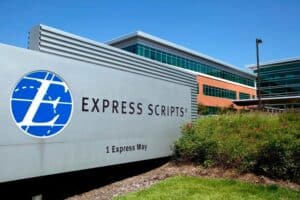 Express Scripts Sign in Front of Building