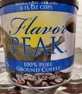 Can of Flavor Peak Coffee