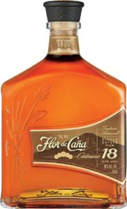"Bottle of Flor de Caña Rum with ""18"" Representation"