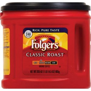 Canister of Folgers Classic Roast