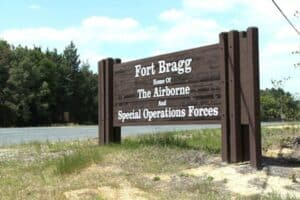Sign for Fort Bragg, North Carolina