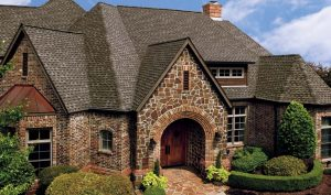GAF Timberline Roof Shingles on House with Varied Roofline