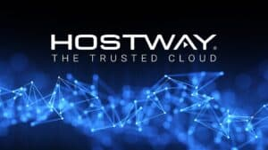 Hostway Name and Network of Small Blue Lights