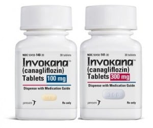 Two Pill Bottles of Invokana