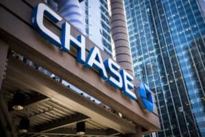 Chase Bank Sign on City Building