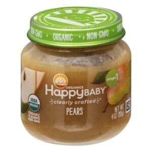 Jar of Happy Baby Organics Pears