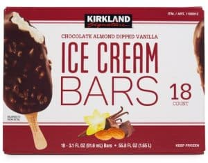 Box of Kirkland Ice Cream Bars