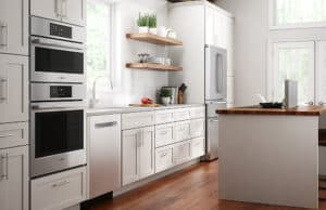 Kitchen with Bosch 800 Series Microwave:Oven Combination