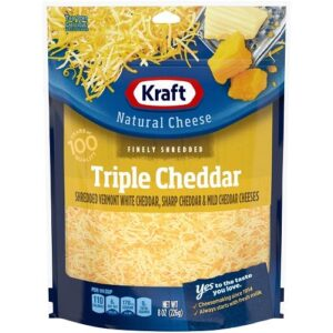 Bag of Kraft Grated Triple Cheddar Cheese