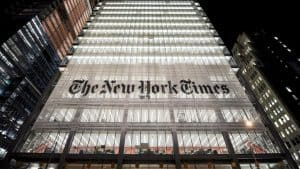 The Facade of the New York Times Building