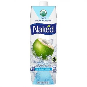 Bottle of Naked Pure Coconut Water with Other Natural Flavors