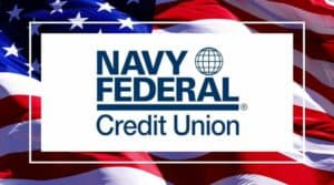 Navy Federal Credit Union Name on Flag Background