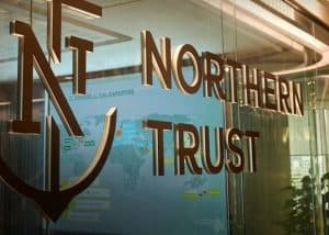 "Window with Logo and Name ""Northern Trust"""