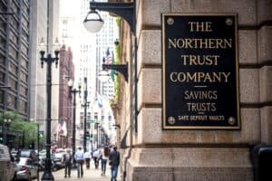 Northern Trust Company Sign on Building