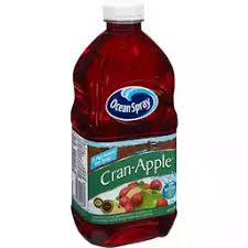 Bottle of Ocean Spray Cran-Apple Juice